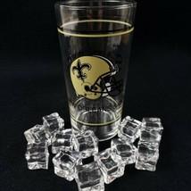 New Orleans Saints NFL Football Glass 20 Oz Who Dat Vintage - $13.00