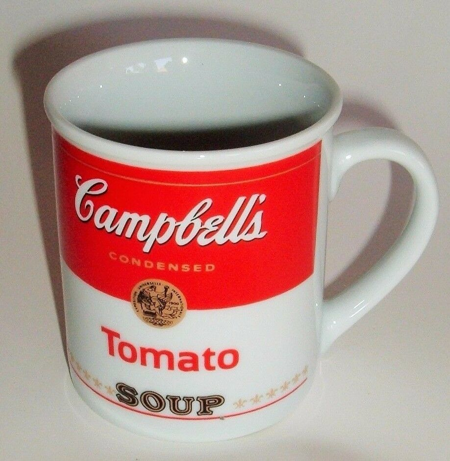 Red White Mug Campbells Condensed Tomato Soup Mug 125th Anniversary Collection