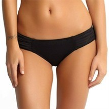 SEAFOLLY Goddess 6 US 10 AUS pleated hipster bikini bottom swimsuit black  - $29.09