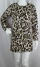 Chelsea & Theodore womens coats animal print zipper polyester spandex si... - $19.89