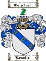 Lesslie Family Crest / Coat of Arms JPG or PDF ... - $6.99