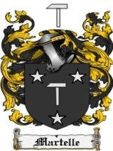 Martelle Family Crest / Coat of Arms JPG or PDF Image Download - $6.99