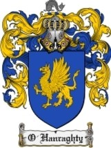 O'Hanraghty Family Crest / Coat of Arms JPG or PDF Image Download - $6.99