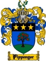 Pippenger Family Crest / Coat of Arms JPG or PDF Image Download - $6.99