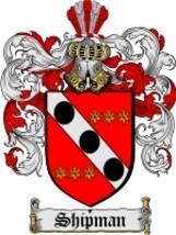 Shipman Family Crest / Coat of Arms JPG or PDF Image Download - $6.99