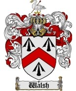 Walsh Family Crest / Coat of Arms JPG or PDF Image Download - $6.99