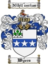 Wyers Family Crest / Coat of Arms JPG or PDF Image Download - $6.99