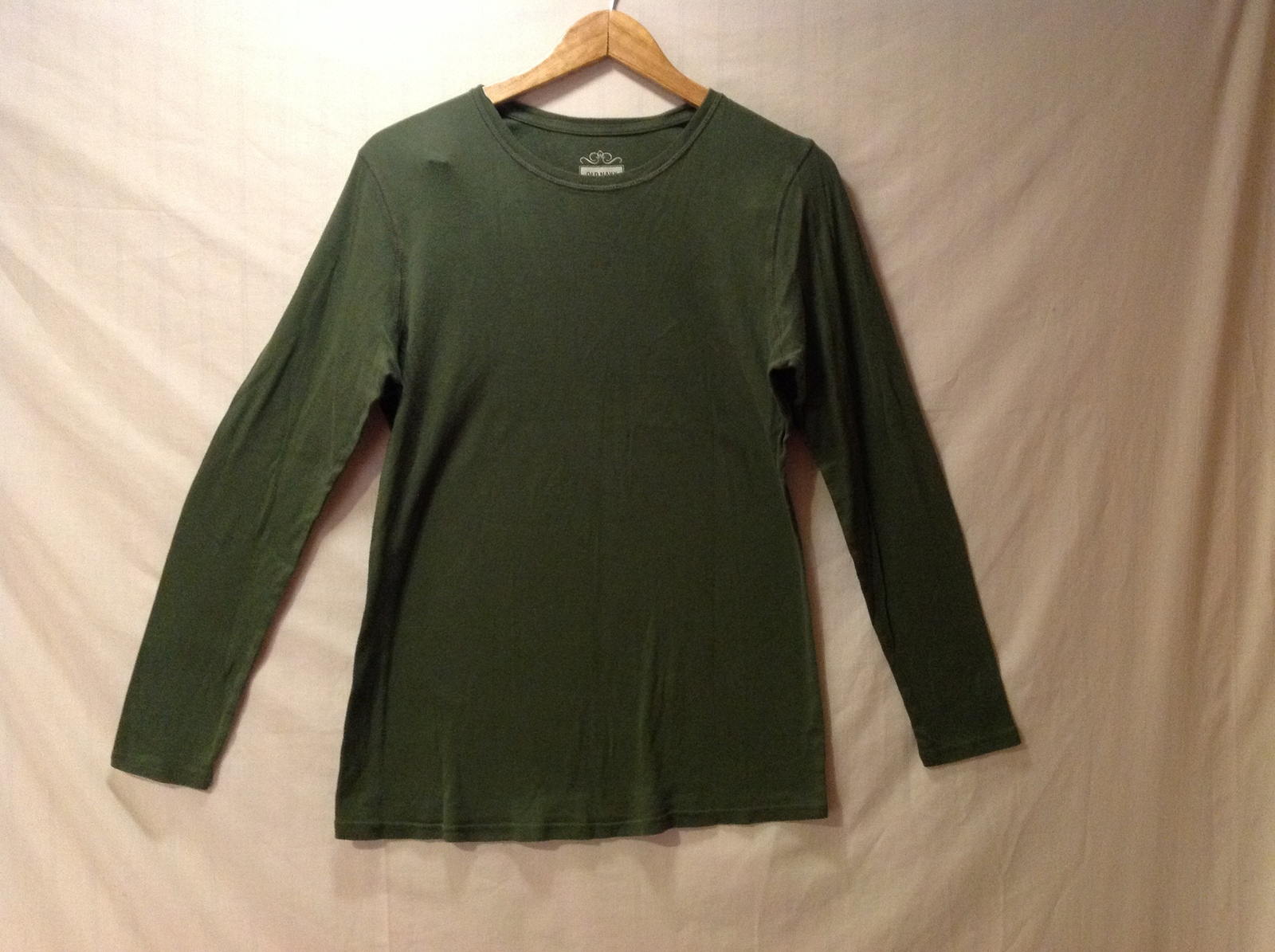 Old Navy Womans Olive Green Maternity Shirt, Size Large
