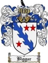 Biggar Family Crest / Coat of Arms JPG or PDF Image Download - $6.99