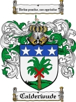 Primary image for Calderwude Family Crest / Coat of Arms JPG or PDF Image Download