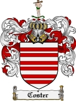 Coster Family Crest / Coat of Arms JPG or PDF Image Download