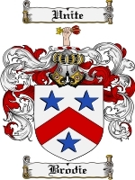 Primary image for Brodie Family Crest / Coat of Arms JPG or PDF Image Download
