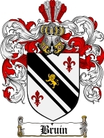 Primary image for Bruin Family Crest / Coat of Arms JPG or PDF Image Download