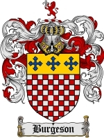 Primary image for Burgeson Family Crest / Coat of Arms JPG or PDF Image Download