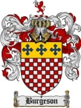 Burgeson Family Crest / Coat of Arms JPG or PDF Image Download - $6.99