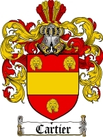 Primary image for Cartier Family Crest / Coat of Arms JPG or PDF Image Download