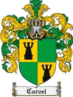 Primary image for Carvel Family Crest / Coat of Arms JPG or PDF Image Download