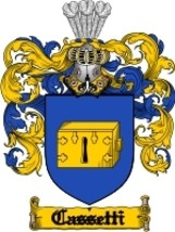 Cassetti Family Crest / Coat of Arms JPG or PDF Image Download - $6.99