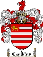 Primary image for Caulkins Family Crest / Coat of Arms JPG or PDF Image Download
