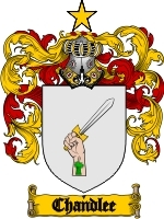 Primary image for Chandlee Family Crest / Coat of Arms JPG or PDF Image Download
