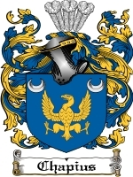 Primary image for Chapius Family Crest / Coat of Arms JPG or PDF Image Download