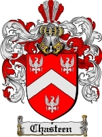 Primary image for Chasteen Family Crest / Coat of Arms JPG or PDF Image Download