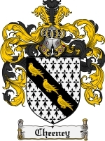 Primary image for Cheeney Family Crest / Coat of Arms JPG or PDF Image Download