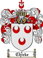 Primary image for Chicke Family Crest / Coat of Arms JPG or PDF Image Download
