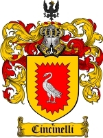 Cincinelli Family Crest / Coat of Arms JPG or PDF Image Download