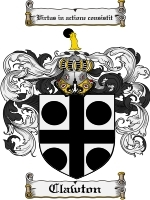 Primary image for Clawton Family Crest / Coat of Arms JPG or PDF Image Download