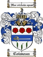 Primary image for Colesoun Family Crest / Coat of Arms JPG or PDF Image Download