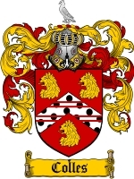 Primary image for Colles Family Crest / Coat of Arms JPG or PDF Image Download