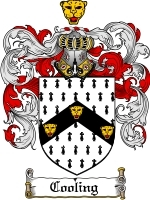 Cooling Family Crest / Coat of Arms JPG or PDF Image Download