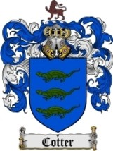 Cotter Family Crest / Coat of Arms JPG or PDF Image Download - $6.99