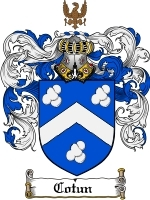 Primary image for Cotun Family Crest / Coat of Arms JPG or PDF Image Download