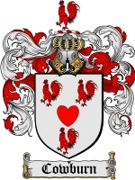 Primary image for Cowburn Family Crest / Coat of Arms JPG or PDF Image Download