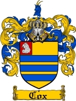 Primary image for Cox Family Crest / Coat of Arms JPG or PDF Image Download