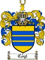 Primary image for Coyl Family Crest / Coat of Arms JPG or PDF Image Download