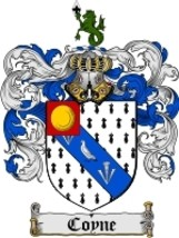 Coyne Family Crest / Coat of Arms JPG or PDF Image Download - $6.99