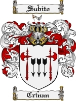 Primary image for Crinan Family Crest / Coat of Arms JPG or PDF Image Download