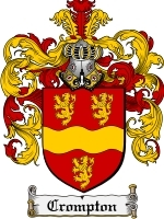 Primary image for Crompton Family Crest / Coat of Arms JPG or PDF Image Download