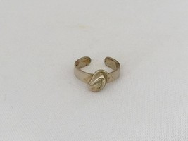 Vintage Sterling Silver Shoe Adjustable Band Ring Size 3 - $14.00