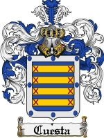 Primary image for Cuesta Family Crest / Coat of Arms JPG or PDF Image Download