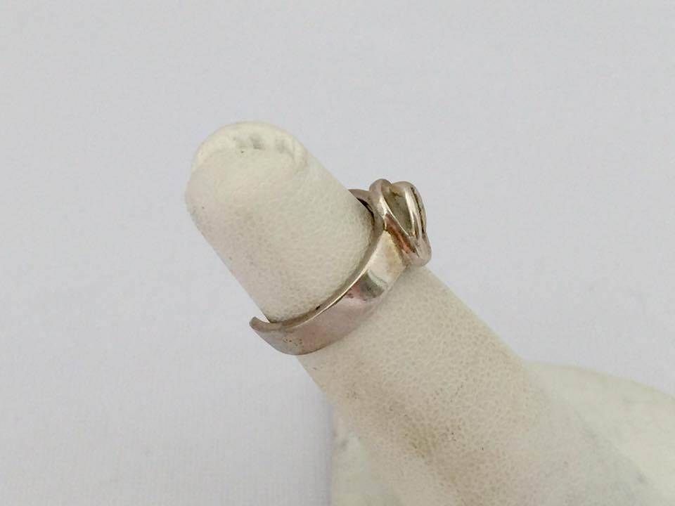 Vintage Sterling Silver Shoe Adjustable Band Ring Size 3