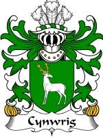 Primary image for Cynwrig Family Crest / Coat of Arms JPG or PDF Image Download