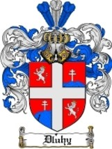 Dluhy Family Crest / Coat of Arms JPG or PDF Image Download - $6.99