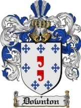 Downton Family Crest / Coat of Arms JPG or PDF Image Download - $6.99