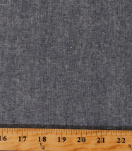 Linen Cotton Blend Essex Yarn Dyed Charcoal/Black Chambray Look Fabric D255.23 - $11.95
