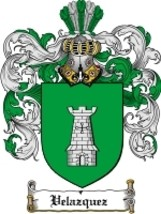 Velazquez Family Crest / Coat of Arms JPG or PDF Image Download - $6.99