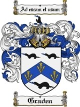 Graden Family Crest / Coat of Arms JPG or PDF Image Download - $6.99